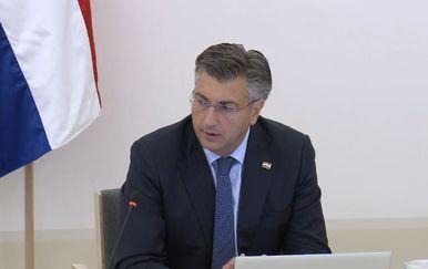 Premijer Andrej Plenković na sjednici Vlade (Foto: Dnevnik.hr)