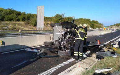 Prometna nesreća na Istarskom ipsilonu (Foto: JVP Rovinj)
