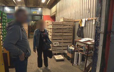 Inspekcija na Zelenoj tržnici (Foto: Dnevnik.hr)