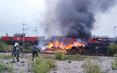 Požar na Ranžirnom kolodvoru (Foto: Facebook, JVP Zagreb)