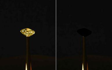 Dijamant prekriven najtamnijom tvari na Zemlji