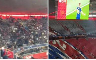 Zvezdaši gledaju Dinamovu pobjedu (Foto: Screenshot/Facebook)