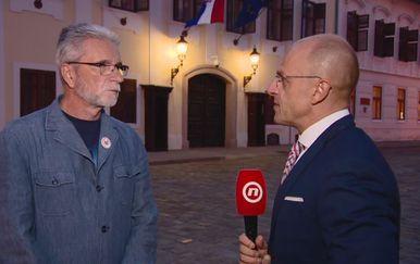 Krešimir Sever, predsjednik Nezavisnih hrvatskih sindikata, i Mislav Bago (Foto: Dnevnik.hr)