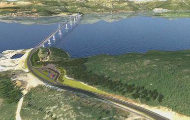 Plan izgradnje Pelješkog mosta (Foto: Dnevnik.hr) - 1