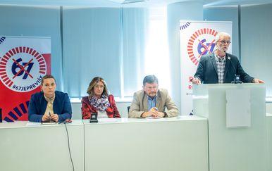 Predsjednici sindikalnih središnjica (Foto: Davor Puklavec/PIXSELL)
