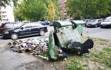 Zapalio se kontejner u Zagrebu (Foto: Čitatelj) - 2