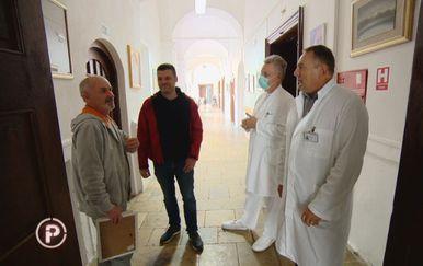 Ivica Grdović, Mato Barišić i doktori Specijalne bolnice u Gornjoj Bistri (Foto: Dnevnik.hr)