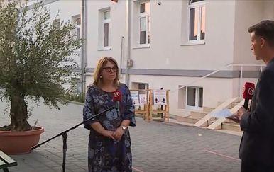 Željka Karin, ravnateljica Zavoda za javno zdravstvo Splitsko-dalmatinske županije, i Ivan Kaštelan