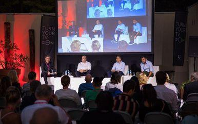 Nikola Francetić, Adrian Ježina, Srđan Đurđević na panelu United Groupe - 1
