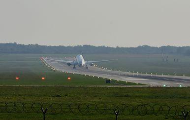 Slijetanje aviona, ilustracija