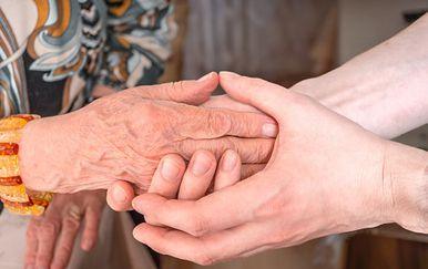 Pomaganje starijima, ilustracija