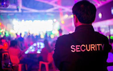 Zaštitar na zabavi, ilustracija