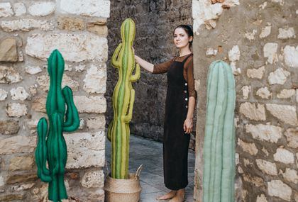 Marta Lučin iz Trogira izrađuje kaktuse od recikliranih materijala i odbčenih predmeta - 6