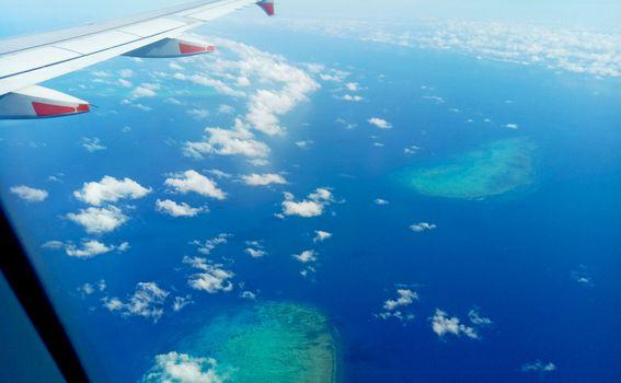 Dio Velikog koraljnog grebena iz aviona