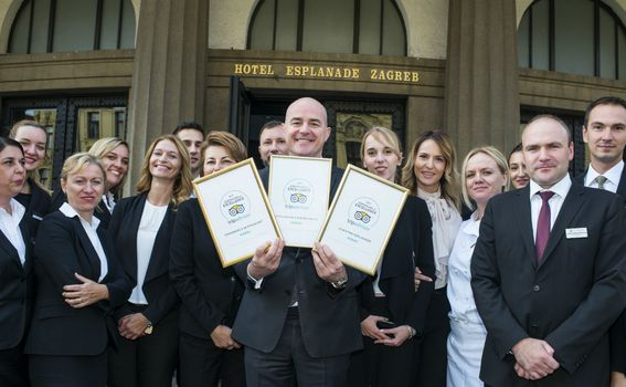 Tri nova priznanja hotela Esplanade