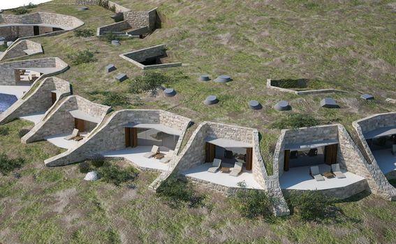 Kameni hotel Villa NAI 3.3 prati izohipsu terena