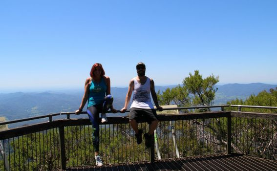 Antea i Anthony na planinarenju