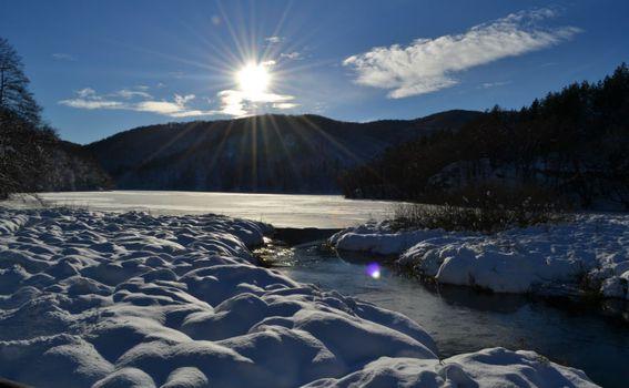 Zalazak sunca na Plitvicama