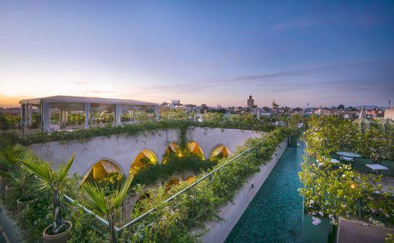 Almaha Marrakech očarava svojim vrtom na krovu