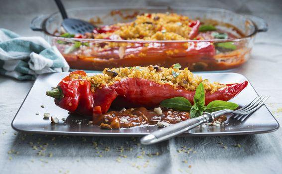 Pečena paprika punjena bulgurom