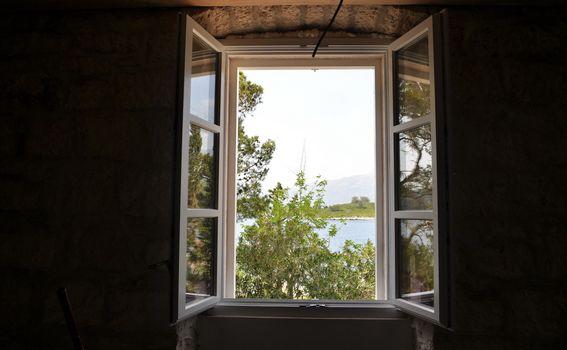 Pogled iz apartmana na Vrniku