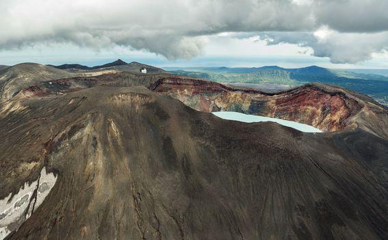 Jezero vulkana Maly Semyachik - 1