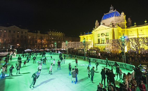 Ledeni park na Tomislavcu u Zagrebu