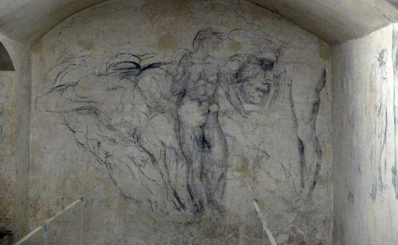 Crteži na zidu tajne Michelangelove sobe