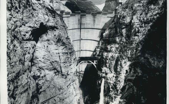 Fotografija brana Vajont 1963. godine