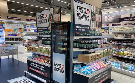 Plavu policu s proizvodima kandidata emisije Startaj Hrvatska možete pronaći u INTERSPAR i odabranim SPAR trgovinama