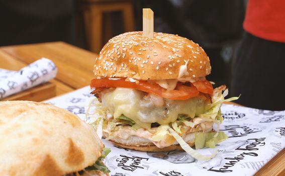 Funky food burgeri