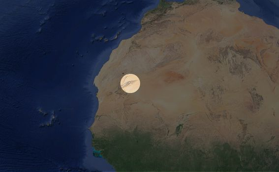 Lokacija Oka Sahare u Africi (Screenshot: Google Maps)