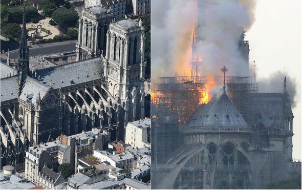 Katedrala Notre-Dame prije i poslije požara (Foto: AFP)