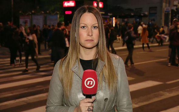 Barbara Štrbac izvještava iz Beograda o skupu potpore Vučiću (Foto: Dnevnik.hr)
