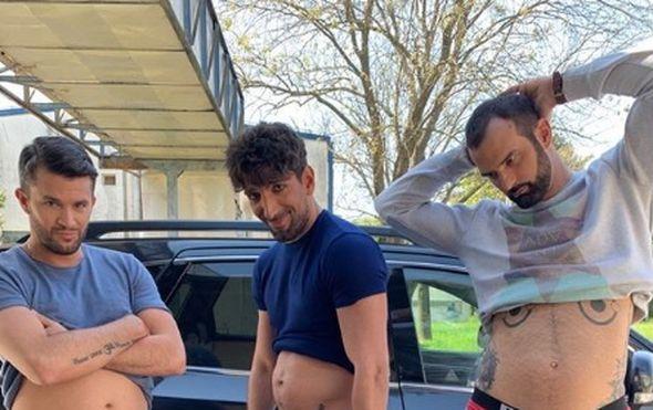 """Pored toliko napornih treninga: Kedžo, Sobin i Šarić umjesto pločica pokazali """"trbuščiće"""""""