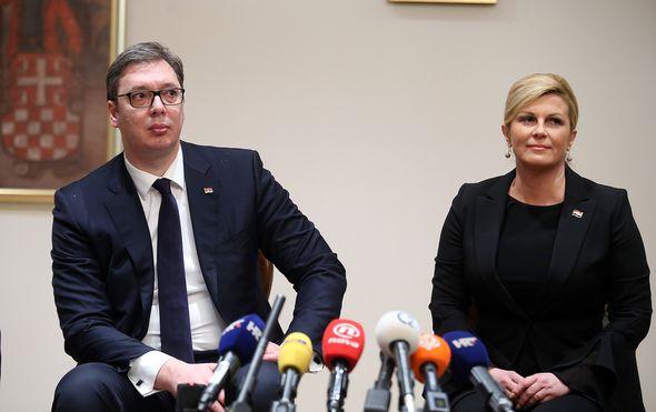 """Vučić: """"Tražio sam od Grabar-Kitarović da ne koristi termin velikosrpska agresija, ali tražila je i ona od mene"""""""