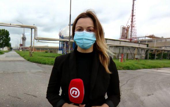 Ana Malbaša ispred kninske Petrokemije