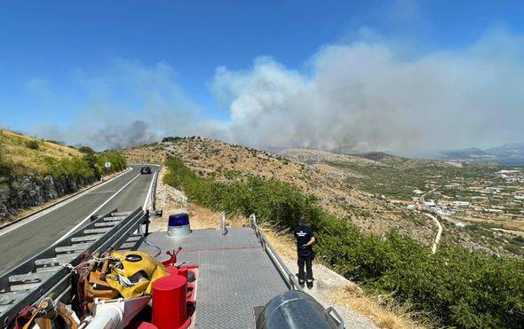 Veliki požar kod Trogira - 1