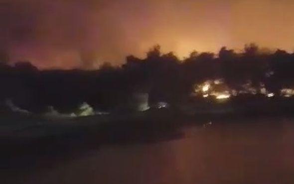 Požar na Zrću (Foto: Čitatelj)