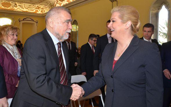 Kolinda Grabar-Kitarović i Stipe Mesić, arhiva (Foto: Dusko Marusic/PIXSELL)