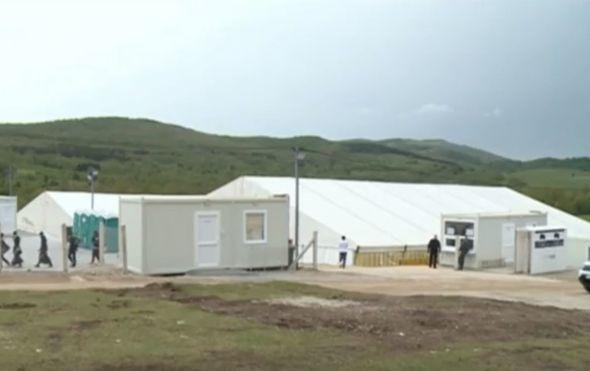 Migranti u kampu kod Bihaća, ilustracija