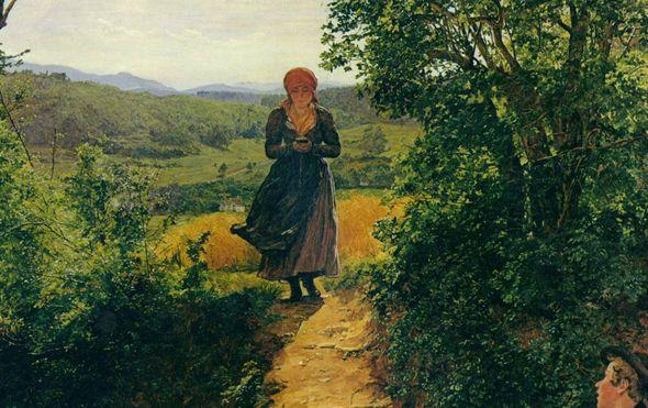 slika djevojke koja u ruci drzi mobitel iz 1860 godine podsjetila na stari nerazjasnjeni misterij