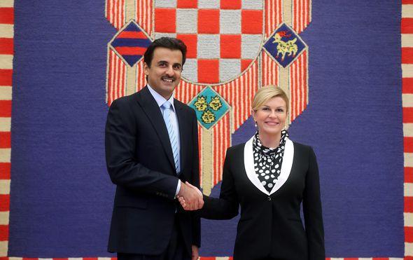 Predsjednica Grabar-Kitarović sastala se katarskim emirom (Foto: Igor Kralj/PIXSELL)