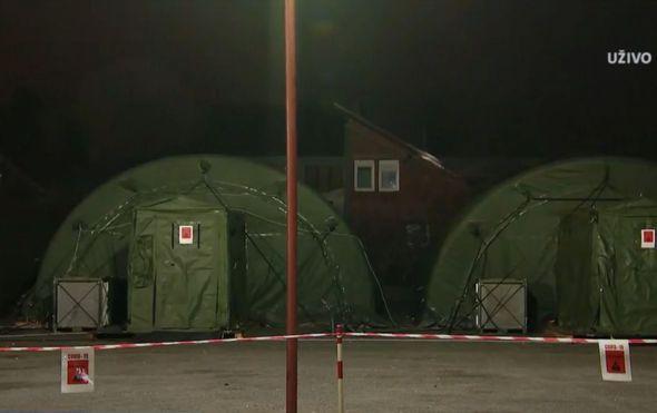 Koronavirus - Šatori u Varaždinu