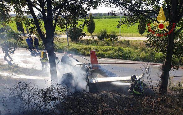 Srušio se avion u Italiji (Foto: Vigili del Fuoco)