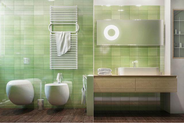 Kupaonice sa zidnim pločicama u boji - 3