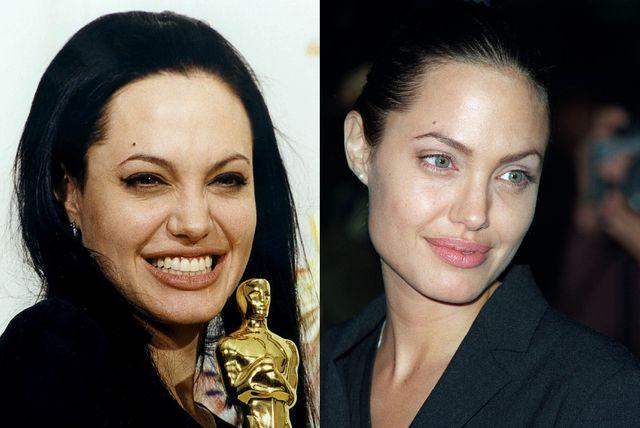 Angelina Jolie na Oscare 2000. godine došla je u crnoj haljini, s tamnim make-upom i crnom kosom