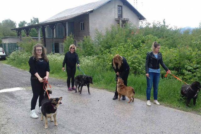 Učenici i djelatnici Srednje škole Delnice u šetnji sa štićenicima azila
