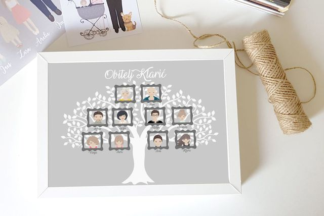 La.la frames nudi personalizirana obiteljska stabla