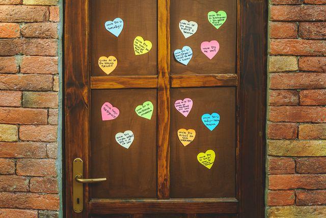 Srce s porukom na vratima dječje sobe - 2